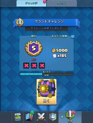グランドチャレンジ5勝